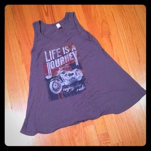 Life is a journey motorcycle tank